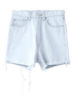 DISTRESSED DENIM SHORT PANTS/ライトブルー