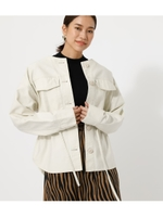 DRAWSTRING POCKET JACKET/L/BEG1