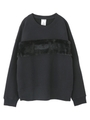 FUR LOGO SWEAT TOP/ブラック