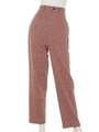 [BED&BREAKFAST]JAZZ NEP TWEED Balloon Pants/REDmix
