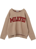 COLLEGE LOGO KNIT TOP/ベージュ