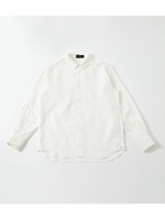 COTTON LINEN BIG SHIRT/O/WHT1